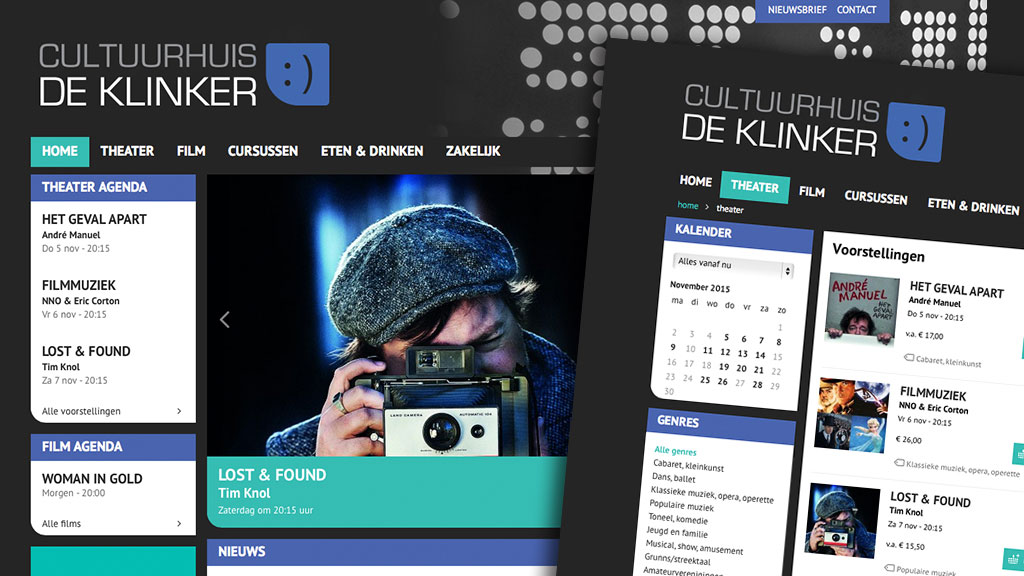 Logo en website Cultuurhuis De Klinker