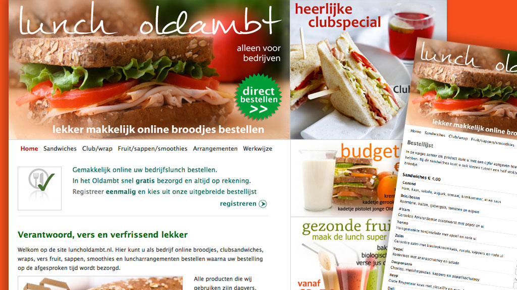 Website Lunch Oldambt Winschoten
