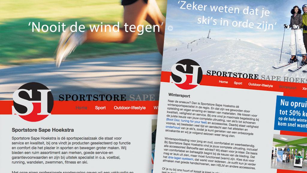 Website Sportstore Sape Hoekstra Winschoten
