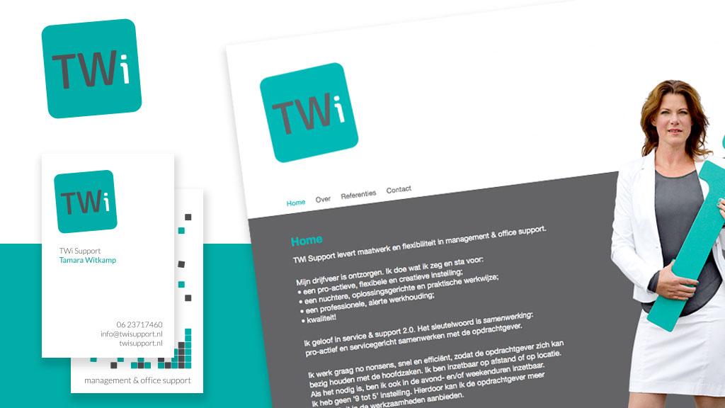Logo, huisstijl en website TWi Support