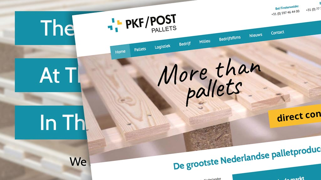 Nieuwe website PKF/POST Pallets