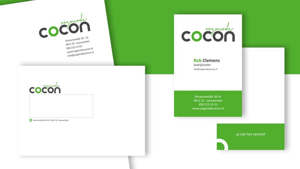 Logo en huisstijl ontwerp Oogmode Cocon