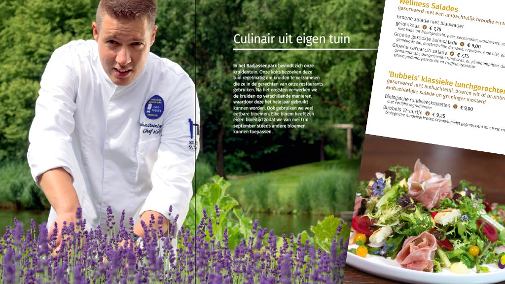 Brochure + menukaarten Fontana