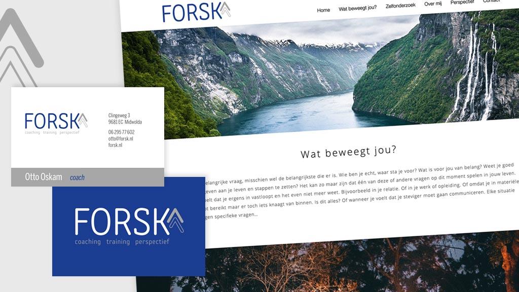 Logo, huisstijl en website voor Forsk