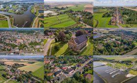 Dronefoto's 15 dorpskernen gemeente Oldambt
