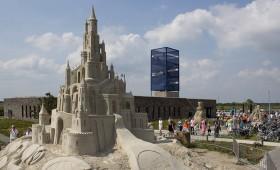 Drone beelden Zandsculptuur festival Blauwestad